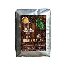 Two Volcanoes Gourmet Ground Coffee - Guatemala Dark Roast Espresso Blend F