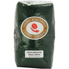 Green Unroasted Brazil Santos, Whole Bean Coffee, 5-Pound Bag