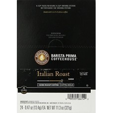Barista Prima Coffeehouse, Italian Dark Roast, 24- Count K-Cup Portion Coun