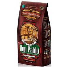 Cafe Don Pablo Gourmet Coffee Medium-Dark Roast Whole Bean, Classic Italian