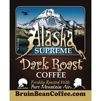 Alaska Supreme Coffee TM, GROUND, Freshly Roasted in Alaska with Pure Mount